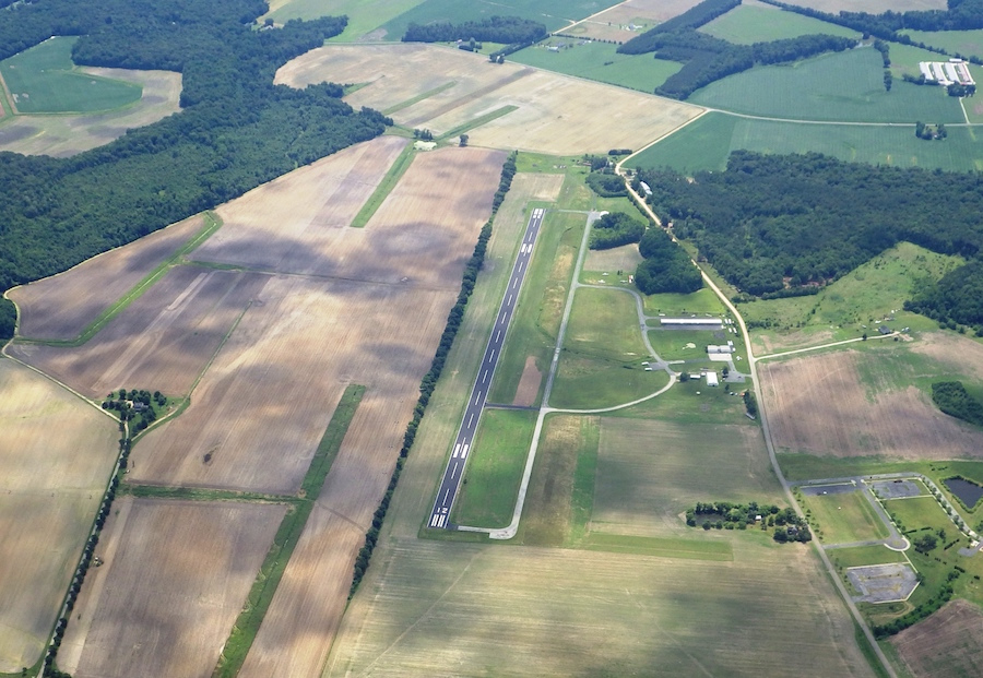 aerial of Ridgely Airport