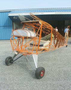 aircraft frame for 1940s-era Aeronca Chief