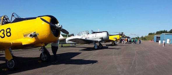 t-6s at garrett County Wings & Wheels event