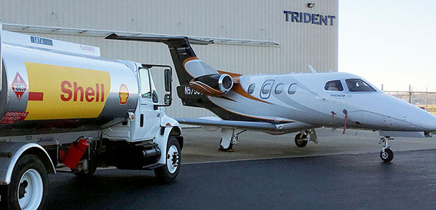 trident fuel truck and jet