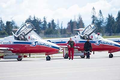 snowbird jets on the ground